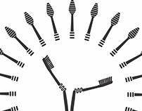 Toothbrush in Warli Era.