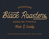 FREE | Black Roasters Monoline Typeface