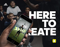 Adidas 'Here To Create' Snapchat Game