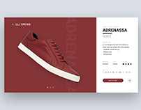 Shoe / sneaker shopping — design & animation concept