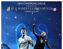 """MATCH CARD""""REAL MADRID VS BAYERN MUNICH"""""""