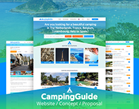 Camping Guide - a concept for a camping guide website