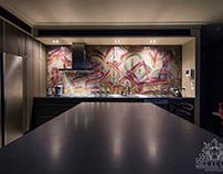 Kitchen Street Art Splashback