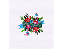 PRECIOUS FLOWER BOUQUET MOTHERS DAY EMBROIDERY DESIGN