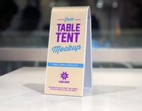 Free Plastic Table Tent Mockup PSD