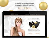 Website Designing pages for innovative cosmetic product