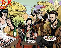 T-Rex Bar-B-Que Illustration