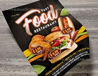 Fast Food Restaurant – PSD Flyer Template