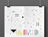 Madrid Typo Poster//SUYT
