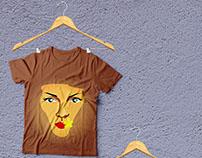 Illustrated t-shirts, merchandise design