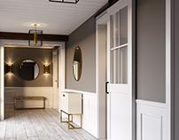 Barn doors style rendering