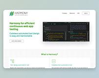 Harmony- UI webdesign + build