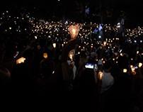 Concentración nocturna en el este de Caracas 17 de mayo