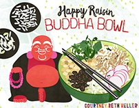 Happy Raisin Buddha Bowl Illustrated Recipe