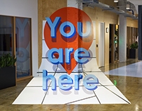 """You Are Here"" Mural"