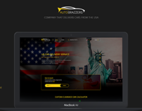 Landing page - delivery of cars from the USA