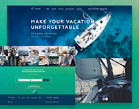 UI/UX Web Design - Yes Captain