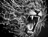 Print for T-shirts- Lion
