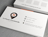 Logo and loyalty card - La Pause Gourmande