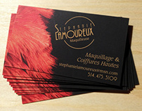 Business card for a makeup artist