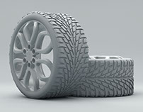 Wheel and Tire in Cinema 4D