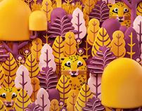 Animal patterns, wallpaper