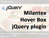 Milantex Hover Box jQuery plugin