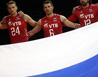 Mizuno // Russia // Men's Volleyball Teamwear // SS15