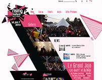 Rising Festival - Website project