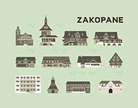 Map of Zakopane { Illustration
