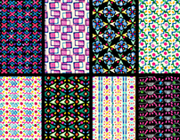 Pattern de Estampación con Sellos de Goma.