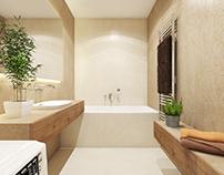 #bathroom #microcret #lightbeige #beige