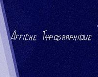 Affiche typographique - CinéClub