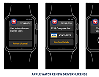 Driver license renewal concept - apple watch.