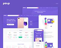 Poup - Site & Branding