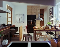 Kitchen, rendered in 3Ds Max 2014 and Corona