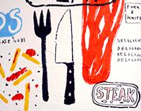 Restaurant Toilets Illustration