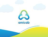 Amicab Taxi Service Branding & User Interface
