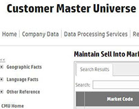 Update of UI; HP Customer Master Universe