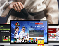 Martial Arts Homepage Design