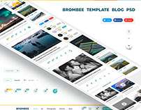 Template blog psd site one page