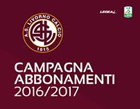 Campagna Abbonamenti 2016/2017 - Livorno Calcio