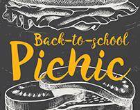 COB Back-to-School Picnic Postcard, 2016
