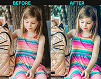Color Correction of Young Girl