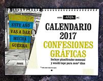 Calendario #ConfesionesGráficas 2017