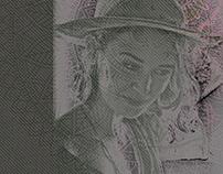 Erin, mixed media portrait