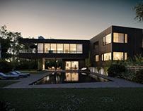 Bluff villa / night