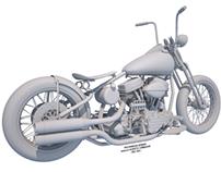 1952 Panhead BOBBER - modeling phase