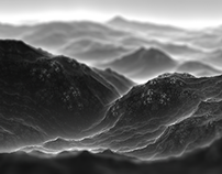 Procedural Landscapes: Black and white