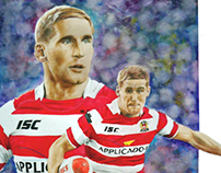 Sports Art - Sam Tomkins